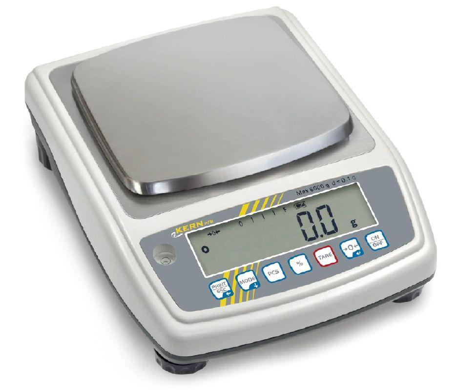 Přesná váha do 6000 g/0,1 g, KERN PFB, 155x145