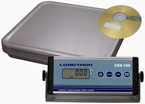 Balíková váha CSS do 100kg, 330x320mm.