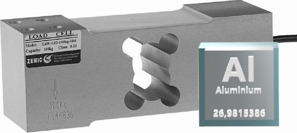 Hliníkový tenzometrický snímač ZEMIC L6G/100kg
