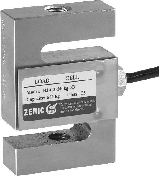 Ocelový tenzometrický snímač ZEMIC H3/200kg