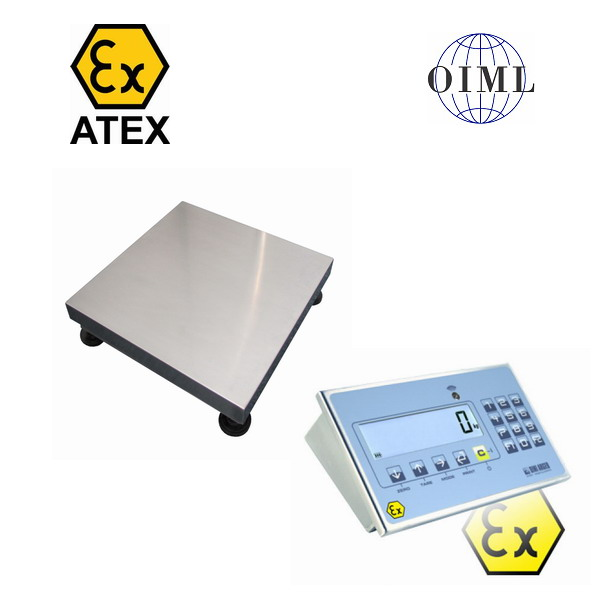 Váha pro výbušné prostředí 300x300mm do 15kg